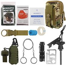 [USAmall] Emergency Survival Kit Outdoor Tactical Survival Gear with Molle Pou