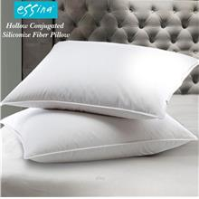 Essina Hollow Conjugated Siliconise Polyester Fibre Pillow 600gm/Pc (2 Piece))