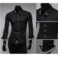 SALE!!! D.HOMME KOREAN ELEGANT HEMMING LINED-STRIPE SHIRT