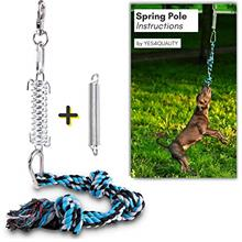 Durable Spring Pole for Pitbull - Strong Dog Rope Toy  & 2 Different Capacity