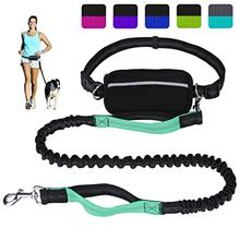 LANNEY Hands Free Dog Leash for Running Walking Training Hiking, Dual-Handle R