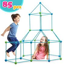 Obuby Kids Construction Fort Building Kit 85 Pieces Ultimate Forts Builder Gif