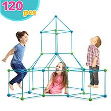 Obuby Kids Construction Fort Building Kit 120 Pieces Ultimate Forts Builder Gi