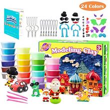 Upworld Modeling Clay Kit, 24 Colors Ultra Light Magic Clay Air Dry Clay with