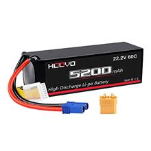 HOOVO 6S 5200mAh 22.2V 60C LiPo Battery with XT90 Connector and EC5 Plug for R