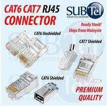 RJ45 CAT6 CAT7 Network LAN Cable Connectors Modular Plug 1 100 PCS