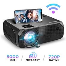 From USA Wi-Fi Mini Projector, Upgraded 5000 Lux, Bomaker Portable Outdoor Mov