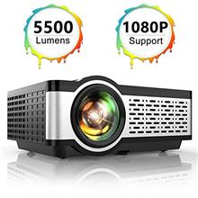 From USA TOPTRO Portable Projector,5500 Lumens Video Projector Support 1080P,2