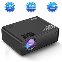 From USA ManyBox Mini Projector, 4500 LUX Portable Video Projector with 45000