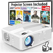From USA [Native 1080P Projector] DR. J Professional 6800Lumens LCD Projector