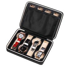 From USA oneisall Travel Watch Case for Men Women Leatherette Portable Zippere