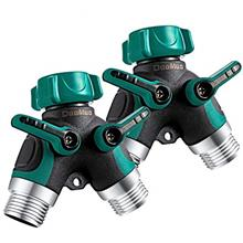 From USA DuoMuo 2 Pack 2 Way Y Hose Splitter Hose Connector Garden Outdoor Fau