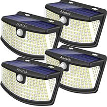 From USA Aootek New solar lights 120 Leds upgraded with lights reflector,270°