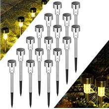 From USA Solpex 16 Pack Solar Lights Outdoor Pathway,Solar Walkway Lights Outd