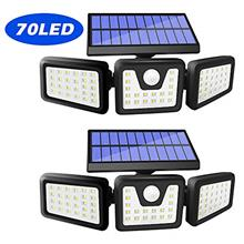 From USA Harmonic Solar Motion Sensor Lights Outdoor,70 LED Solar Security Lig