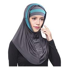 ..// Fashion Long Islamic Amira Hijab Turkish Scarf 2 Piece Easy Instant Musli