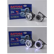 Universal 80mm Projector Fog Lamp With White LED Ring