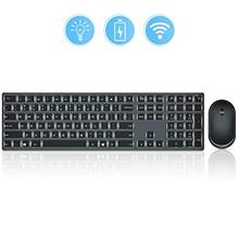 From USA Wireless Keyboard and Mouse Backlit, seenda 2.4GHz Ultra Slim Recharg