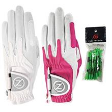 From USA Zero Friction Ladies Compression-Fit Synthetic Golf Glove 2 Pack, Inc