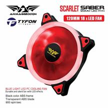 Armaggeddon Scarlet Dual Saber PC Cooling Fan for Gaming PC Case 120mm