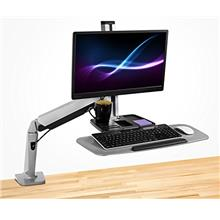 [USAmall] Mount-It! Sit Stand Workstation for Single Monitor and Keyboard - He