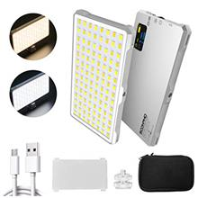 [USAmall] SUPON 112 LED Video Light, Dimmable Bi-Color 3200K-5600K Light Panel