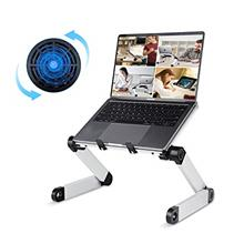 [USAmall] Adjustable Laptop Desk, RAINBEAN Laptop Stand with Large Cooling Fan