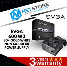 EVGA 600 W2 80 PLUS WHITE NON-MODULAR POWER SUPPLY - 100-W2-0600-K3