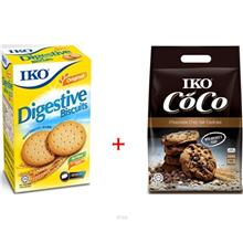 (Set of 2) Vits IKO Digestive Biscuits 400g + IKO Chocolate Chip Oat Cookies 3)