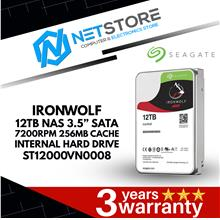 "SEAGATE IRONWOLF 12TB NAS 3.5"" SATA 7200RPM INTERNAL HARD DRIVE"