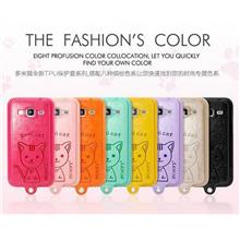 Samsung Galaxy Core Prime Leather + TPU Case Cover Casing + Free Gifts
