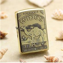 Etching Brass Armor 5-Side Camel Wides Zippo Lighter