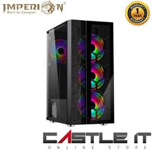 IMPERION Kinetic 361 Tempered Glass Gaming Casing ATX Free 4 RGB Fan