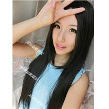 long straight wig mm10/ready stock/ rambut palsu