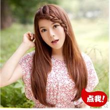 long straight wig with braid mm11/ready stock/rambut palsu