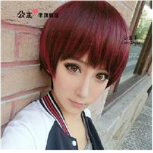 Cosplay hair wig cs20/rambut palsu/ready stock/promotion/ wine red
