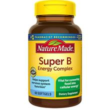 US. Nature Made Super B Energy Complex Softgels, 60 Count for Metabolic Health