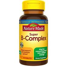 US. Nature Made Super B-Complex Tablets, 60 Count for Metabolic Health† (Pac