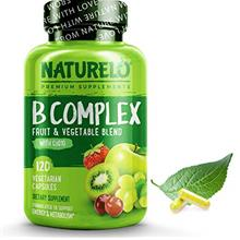 US. NATURELO B Complex - Whole Food - with Vitamin B6, Folate, B12, Biotin - V