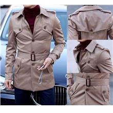 SALE~D.HOMME KOREAN GABARDINE MID.LONG TRENCH COAT