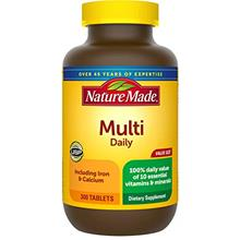 US. Nature Made Multi Daily Vitamin With Iron and Calcium, Value Size, 300 Tab