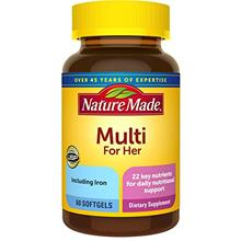 US. Nature Made Women's Multivitamin Softgels with Vitamin D3 and Iron, 60 Cou