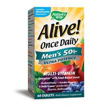 US. Nature's Way Alive Once Daily Men's 50+ Ultra Potency Tablets, 60