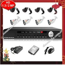 Qi Tech CCTV 4-CH HD DVR with IR BULLET Camera Package (W1-0D4L)