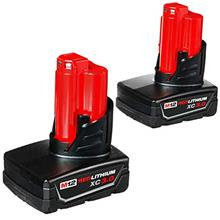 From USA Milwaukee 48-11-2412 Twin Pack of 3.0 Amp Hour Extended Capacity 12V