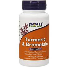 US. NOW Supplements, Turmeric  & Bromelain (Standardized Turmeric Extract) wit