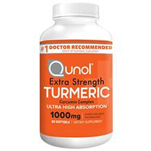 US. Turmeric Curcumin Softgels, Qunol with Ultra High Absorption 1000mg, Joint