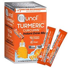 US. Qunol Turmeric Curcumin Instant Drink Mix, On-The-Go Packets, Orange Flavo