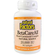 [USAmall] Natural Factors, BetaCareAll 25,000 IU, Antioxidant Support for Heal