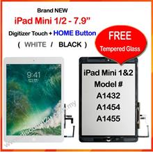 Qi APPLE iPad Mini 1/2/3/4 Touch Screen Digitizer Free Temper Glass
